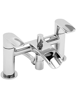 Ora Deck Mounted Bath Shower Mixer Tap With Kit