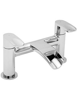 Tre Mercati Ora Pillar Mounted Bath Filler Tap Chrome - 1640