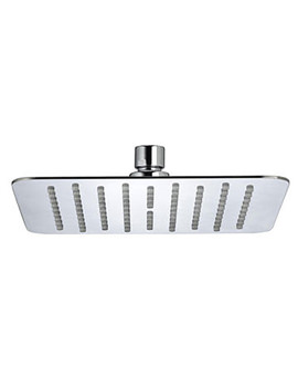 Bristan Stainless Steel Slimline 200mm Square Fixed Shower Head