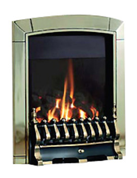 Flavel Caress Traditional Remote Control Inset Gas Fire Brass FICC11RN