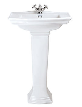 Imperial Westminster 600mm Medium Basin With Full Pedestal