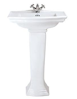 Westminster 600mm Medium Basin With Full Pedestal