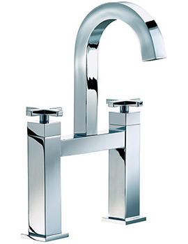 Ice Quad Cross Bath Filler High Spout Tap Chrome - ISX015