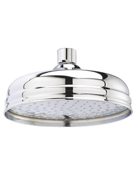 Ultra Apron 8 Inch Chrome Fixed Shower Head 195mm - HEAD21