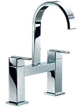 Mayfair Ice Fall Lever Head Bath Filler Tap High Spout Chrome - IFL015