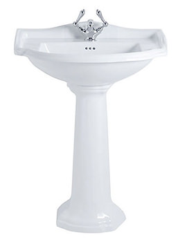 Drift 660mm Large Basin With Full Pedestal White - DR1LB11030