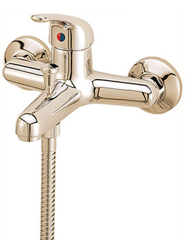 Modena Wall Mounted Bath Shower Mixer Tap With Kit Gold