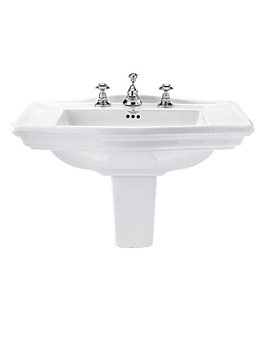 Westminster 685mm Large Basin With Semi Pedestal