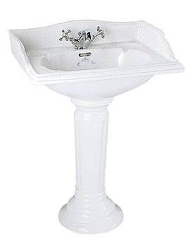 Imperial Oxford 635mm Square Large Basin With Full Pedestal