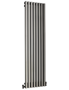 DQ Heating Dune 460 x 1600mm Brushed Stainless Steel Vertical Radiator