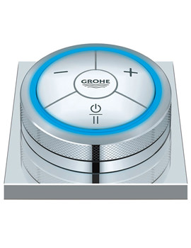 Chrome F-Digital Controller With Base Plate For Bath Or Shower