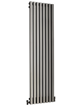 DQ Heating Dune 460 x 1800mm Brushed Stainless Steel Vertical Radiator