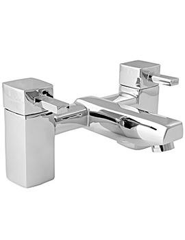 Cube Deck Mounted Bath Filler Tap Chrome