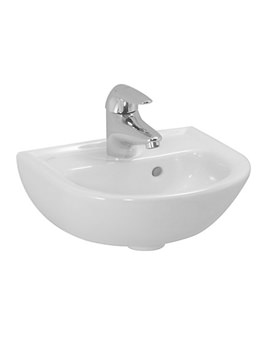 Pro B 350 x 310mm Small Washbasin With 1 Tap Hole