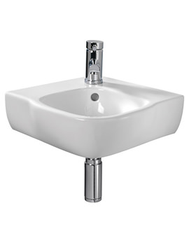 Twyford Moda Corner Washbasin 500 x 485mm - MD4191WH