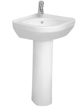 S50 Corner Basin 40cm With Full Pedestal - 5306L003-0999