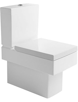 Vero White Close Coupled Toilet And Cistern With Seat And Cover