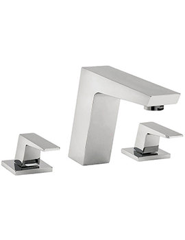 Wilde 3 Hole Bath Filler Tap Chrome - 47045