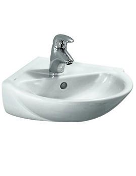 Pro B 350 x 350mm Corner Washbasin With 1 Tap Hole