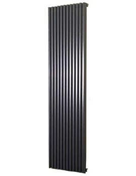 Bassano Vertical Double 300 x 1800mm Designer Radiator White