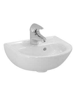Pro B 400 x 320mm Small Washbasin With 1 Tap Hole