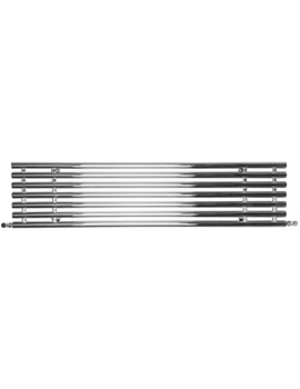 SBH Horizontal Tubes Polished Stainless Steel Radiator 1600 x 380mm