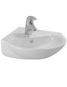 Pro B 440 x 380mm Corner Washbasin With 1 Tap Hole