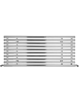 Horizontal Tubes Polished Stainless Steel Radiator 1300 x 560mm