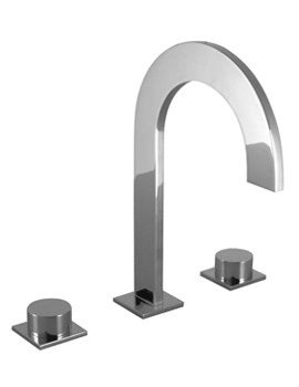 Noken Giro 3 Hole Chrome Basin Mixer Tap