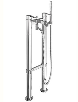 Sapphire Bath Shower Mixer Filler Tap With Floor Mounted Legs