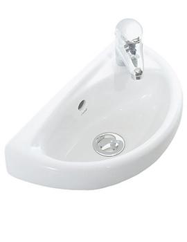 Beo 290 x 390mm Oval Ceramic Washbasin White - TP040