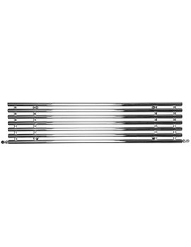 Horizontal Tubes Polished Stainless Steel Electric Radiator 1600 x 380mm