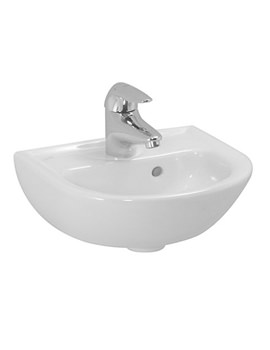 Pro B 450 x 330mm Small Washbasin With 1 Tap Hole