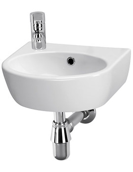 Balterley Piccolo 400mm Left Hand 1 Tap Hole Wall Hung Basin