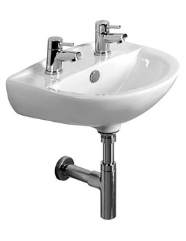 Micra 450mm 2 Tap Hole Ceramic Basin - DB145S