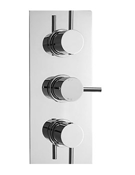 Related Lauren Series 2 Triple Concealed Thermostatic Shower Valve - JTY314