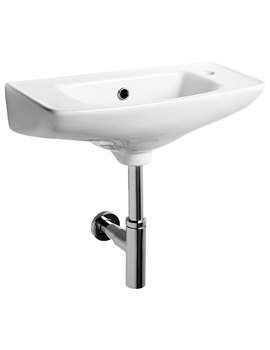 Micra 525mm Slimline Basin 1 TH Right Hand Side - SSRB100S