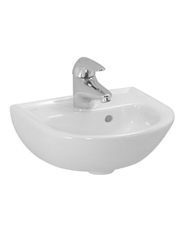 Pro B 500 x 360mm Small Washbasin With 1 Tap Hole