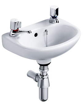 Studio 450mm Handrinse Basin With Two Tap Holes