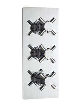 Minimalist Crosshead Triple Concealed Thermostatic Shower Valve