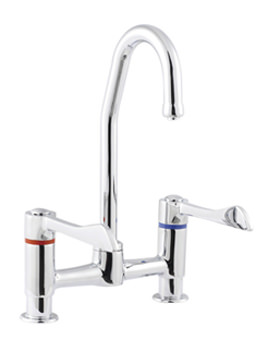 Sola Lever Control Deck Mounted Mixer Tap - SF1077CP