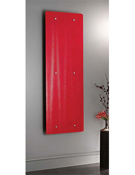 Ferrara Red Glass Vertical Radiator 500 x 1420mm