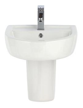 Elation 420mm 1 Tap Hole Basin And Semi Pedestal