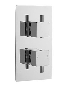 Minimalist Square Twin Thermostatic Shower Valve With Diverter