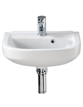 Twyford Refresh Square 450 x 350mm 1 Tap Hole Handrinse Basin