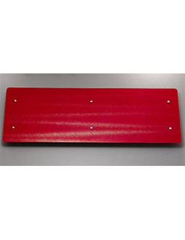 Ferrara Red Glass Horizontal Radiator 1420 x 500mm