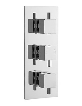 Minimalist Square Triple Concealed Thermostatic Shower Valve