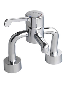 Twyford Sola Deck Mounted Thermostatic Medical Mixer Tap -SF1057CP