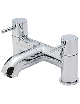 Milan Pillar Mounted Bath Filler Tap Chrome - 63040