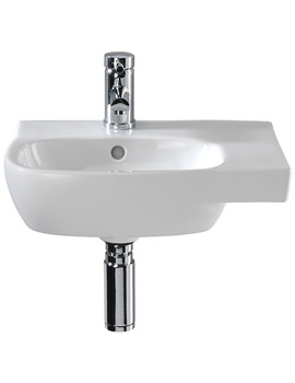 Moda Offset Basin With Right Hand Shelf Space 450 x 350mm